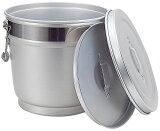 ()【給食・厨房用】段付二重保温食缶12LタイプMO-A【アルミ・バケツ】