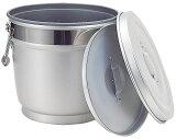 (  ) 【 給食 アルミ 】 段付二重保温食缶 16L MO型-B 【 学校給食 厨房用 バケツ アルマイト AWN-16B 】