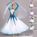 【予約新品】【受注生産S~2XL】社交ダンス 衣装 モダンドレス ラテン衣装 社交ダンス