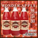【りんごジュース1000ml×3本入り】お中元 ギフト りんご りんごジュース 無添加 青森県 詰め