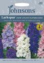 【輸入種子】Johnsons SeedsLarkspur Dwarf Hyacinth Flowered Mixedラークスパー(千鳥草)・ヒヤシンス・ドワーフジョンソンズシード