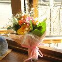 ガーベラとカスミソウのミニブーケ(ミニ花束)