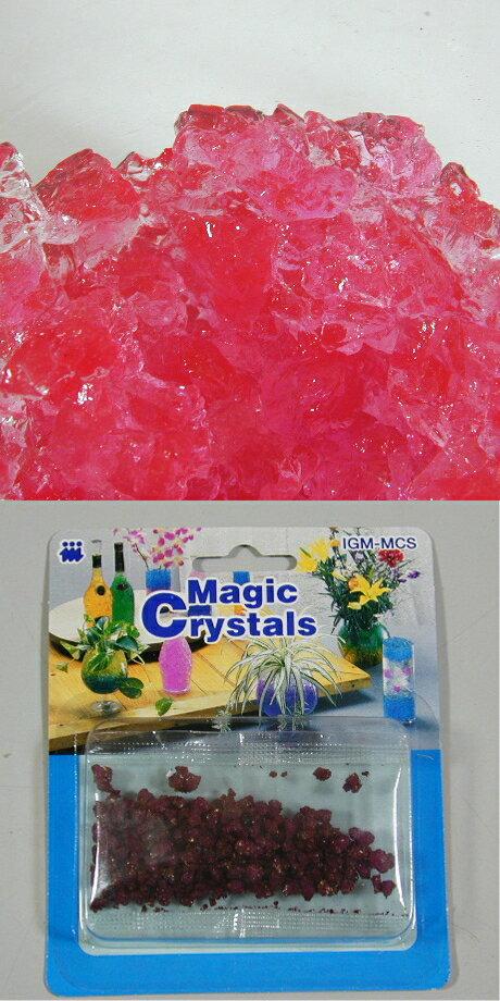 不思議な植物ゼリー「マジッククリスタル」ネオン・ピンク