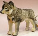 ウルフ(狼) オオカミ 19cm KOSEN(ケーセン社) イヌ・犬・いぬのぬいぐるみ プレゼント/リアル/動物/ギフト/子供/女の子/男の子/大人