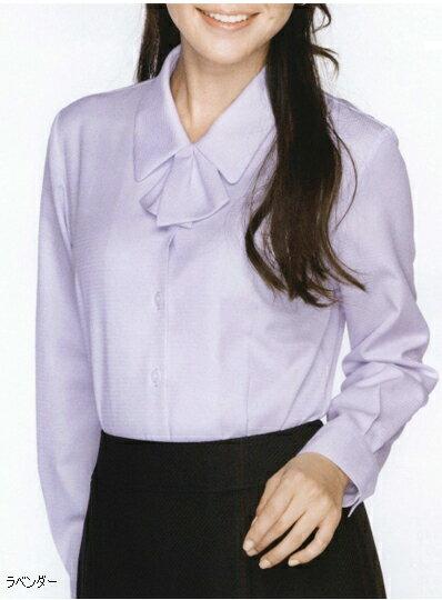 ブラウス 長袖 白 ホワイト 白 リボン 襟 ピ...の商品画像