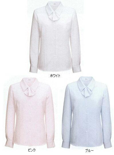 ブラウス 長袖 白 ホワイト 白 リボン 襟 ...の紹介画像2