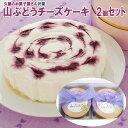 ショッピング2~3人用 【沢菊】山ぶどうチーズケーキ(2〜3人用) 2個セット 岩手県産山葡萄使用 レアチーズケーキ