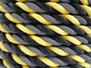 【送料無料】光るロープ/標識ロープ 高反射ロープ 12mm×100m(トラロープ・タイガーロープ)【1巻】 【メーカー直送品 代引不可】