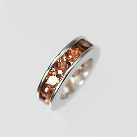K18WG / Garnet birth stone ring (ring) eternity type
