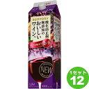 サントリー酸化防止剤無添加のおいしいワイン。濃い赤パック赤ワイン1800ml×12本ワイン【送料無料※一部地域は除く】
