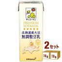 キッコーマン 北海道産大豆 無調整豆乳 200ml×18本×2ケース (36本) 飲料【送料無料※一部地域は除く】