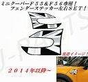 BMW MINI ミニクーパー(F55、F56)フェンダーステッカーユニオンジャック!グレー&ブラックタイプ