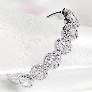 プラチナ ダイヤモンド エタニティリング ジュエリー アンティー