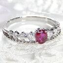 ◆pt900 0.5ctUP ルビー&ダイヤモンド リングジュエリ