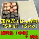 【送料無料 税込】北海道産玉ねぎL5kg + じゃが芋LM5...