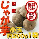 【税込 バラ売り】北海道産他 じゃが芋 小玉(LM)200g 1袋(玉葱 タマネギ たまねぎ じゃがいも ジャガイモ ポテト オニオン 常備野菜 箱売り 特用 セット)上越フルーツ