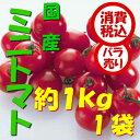 【税込 バラ売り】熊本県産他 ミニトマト 1kg (トマト とまと ミニトマト みにとまと リコピン りこぴん プチとまと プチトマト)上越フルーツ