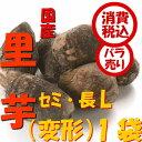 旬 野菜【税込 バラ売り】新潟五泉産 帛乙女里芋 セミ・長(変形)L700g 1袋(さといも ねっとり きぬおとめ きぬ ごせん わけあり)上越フルーツ