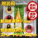 【送料無料 税込】新潟県佐渡産 雪室熟成みかんストレートジュース 720ml瓶 1本 ジュレ6個
