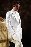 燕尾服,白,ホワイト,販売,結婚式,パーティ,演奏会,発表会,ステージ衣装,舞台衣装,指揮者用,オーケストラ衣装,ダンス衣装,カラオケ衣装【1万円セール】