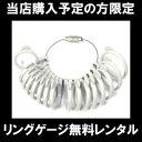 指輪サイズ リングゲージ 無料レンタル 貸出し 結婚指輪 マリッジリング ブライダル リング ペアリ