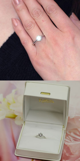 ダイヤモンド エンゲージリング プラチナ 1カ...の紹介画像3
