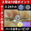 ダイヤモンド エンゲージリング プラチナ 婚約指輪 0.2カ...