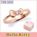 ショッピングキティ ハロー キティー 【HELLO KITTYxTHE KISSコラボ】 THE KISS シルバー リング 【レディース販売】 SV925製 リボンモチーフ ピンクコーティング x キュービックジルコニア KITTY-18CB 記念日