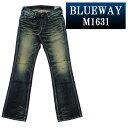 ブーツカットジーンズ BLUEWAY:ビンテージデニム エンジニア フレアカットジーンズ(モーターサイクル):M1631-6155 ブルーウェイ ジーンズ ブーツカット メンズ デニム ジーパン 裾上げ