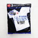 【02P03Dec16】HANES/ヘインズ HM2125G 3P アオラベル VネックTシャツ/青パック ヘインズ