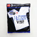 HANES/ヘインズ HM2125G 3P アオラベル VネックTシャツ/青パック ヘインズ