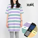 【20%OFF】X-girl/エックスガール <レディース> STRIPED H/S TEE DRESS 05191910