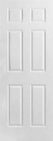 【輸入木製ドア】メイソナイト6パネルHDF室内ドア 762×2032×35サイズ