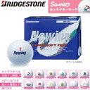 【サンリオオウンマーク】 ブリヂストンゴルフ ニューイング スーパーソフト フィール ゴルフボール ホワイト(NAWX) 1ダース(12球) BRIDGESTONE GOLF