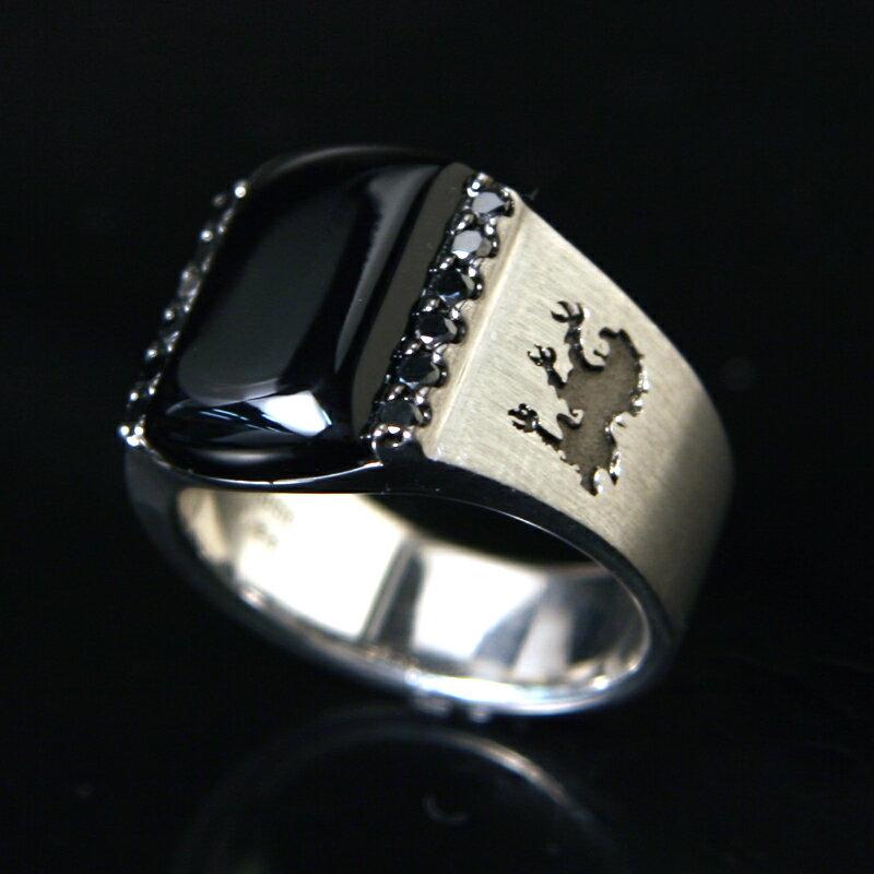 【送料無料】《CICO》PT950ブラックダイヤモンド入りオニキスリング【代金引換利用不可】【返品不可】