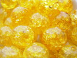 """【あらゆる幸運を呼ぶオールマイティーの石】《8ミリアップ》""""イエロークラック水晶(クリスタル)""""両穴ビーズを一玉からお届け《パワーストーン?天然石》"""