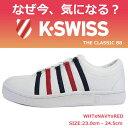 30 offSale K-SWISS ケースイス 公認 レディース スニーカー K SWISS THE CLASSIC 88 シューズ 白 ホワイト ネイビー レッド 国内 【正規品】36022482 154/WHTxNAVYxRED