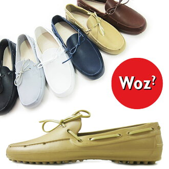Woz? Woz? Men's ERBITE driving shoes rubber shoes shoes レインローファー