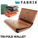 [ ブランド公認 ]FABRIK ファブリック 三つ折り財布 レザー カードケース コインケース 小銭入れ付き 本革 ワックスコーティング メンズ レディース F13013 TRI-FOLD WALLET 送料無料