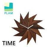 [ ブランド公認 ]PLAM プラム ウォールクロック 風 TIME ウォルナット 掛け時計 木製 ウッド 天然木 インテリア 雑貨 おしゃれ ギフト model-PL1TIM-0030414-WNOL 送料無料