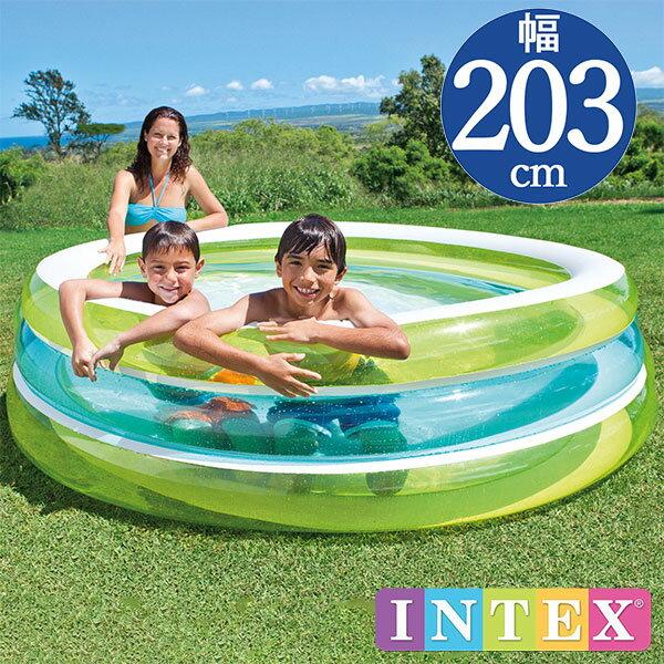 INTEX(インテックス)丸形シースループールTP203【 203 × 51 cm】Swim Center See Through Pool 57489 正規品