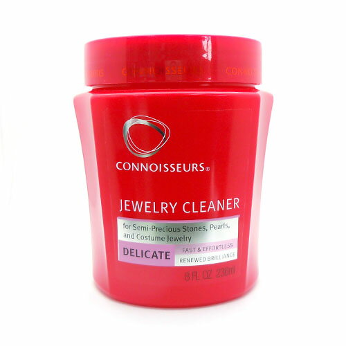 Delicate jewelry cleaner with a tray and brush jewelry cleaning solution)