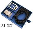 ARMANI JEANS アルマーニジーンズ リバーシブル ベルト ダブルバックル スペシャルパッケージング ブラック 06129 G1 12 BLACK【送料無料】【05P01Oct16】