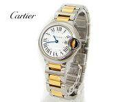 Cartier カルティエ レディス クォーツ 腕時計 バロンブルー シルバー×YG W69007Z3 【新品】【送料無料】【05P01Oct16】