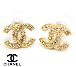 CHANEL <strong>シャネル</strong> A88429 GOLD <strong>ピアス</strong> CCココマーク ラインストーン入り ゴールド×クリア アクセサリー【送料無料】