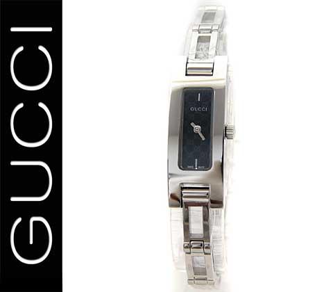 GUCCI  グッチ レディース ウォッチ 腕時計 シルバー×ブラック GGマーク YA039545【送料無料】【05P03Dec16】 縦長のラインが美しいシリーズ。カーブのかかったフェイスは優しい印象を与えてくれます♪