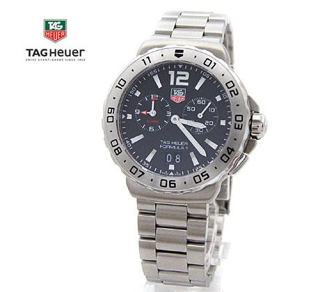 TAG Heuer  タグホイヤー フォーミュラ1 F1 メンズ 腕時計  クォーツ グランドデイト アラーム 黒色文字盤×シルバー WAU111A.BA0858【送料無料】【05P03Dec16】 42mmサイズケース 3時側にスモールセコンド表示針 9時側 アラーム機能を搭載♪ビジネススタイルにも最適です