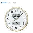 【送料無料/限定特価】 セイコー(SEIKO) 液晶付き夜間自動点灯電波掛け時計 KX384S カレンダー、温度計・湿度計付 夜光タイプ/おしゃれな壁掛け電波時計/電波掛時計/贈答品・贈り物/プレゼント・ギフト/お祝い返し/お返し/新築祝い/オフィスタイプ/デジタル