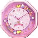 【送料無料】 クオーツ掛け時計 ハローキティM766B 4MH766MB13 キャラクター掛け時計/おしゃれな壁掛け時計/掛時計/かわいい回転飾り・時報メロディー・からくり時計/リズム時計工業(RHYTHM・シチズン系列)※電波時計ではありません。