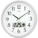 シチズン ネムリーナカレンダーM02 4FYA02-019 CITIZEN 電波掛け時計/おしゃれな壁掛け電波時計/電波掛時計/カレンダー・デジタル液晶表示付き時計/サイレントステップ・夜間音がしない夜眠る秒針/オフィスタイプ/リズム時計工業